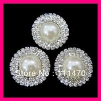 Hot sell! FREE SHIPPING 100pcs 30mm Pearl&Rhinestone Cluster for Wedding Invitation, Rhinestone Embellishment,wholesale!