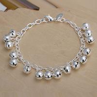 3pcs/PH056/Wholesale 925 silver plated bracelet,fashion jewelry, link chain,wholesale,Nickle free antiallergic ,factory price