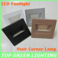 Hot Sell COB 1W LED Corner Wall Lamp 85-265V LED Footlight Embedded LED Stairs Step Night Light LED COB Stair Wall Lighting 1W