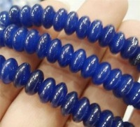 DIY Beads 5x8mm 15'' Blue Sapphire Abacus Gem Loose Beads Free shipping Fashion women jewelry