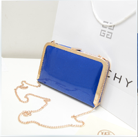 2013 new arrival fashion patent leather small bag mini chain bag summer bag small