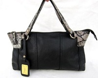 2011 serpentine pattern cowhide handbag women's handbag