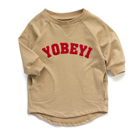 New arrival 2013 child long t-shirt male female child 100% long-sleeve cotton sweatshirt 3117