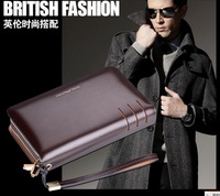 HansBand Large leather man bag Men's handbag genuine business casual clutch bag clutch double team
