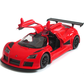 Kinsmart soft world cars toy car alloy racing bike apollo car model