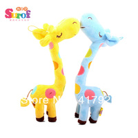 Giraffe Doll ,plush toys,creative home furnishings,birthday gift,yellow,pink,blue,Free shipping