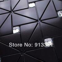black metallic mosaic tile backsplash kitchen diamon glass metal blend frosted surface art  crystal glass tiles design deco mesh