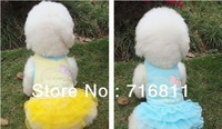 3 Colors New Style Pet Dog Clothes ,pretty dog dress with lace, Dog Apparel XS  M L XL Size Available
