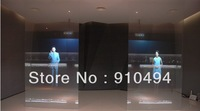transparent holographic screen film 6 square meter(4 colours 1m*1.524m each 1 pcs)glass windows video advertising free shipping