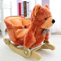 baby rocking horse,brown lion rollaround chair,baby ride on animal toys,children gift
