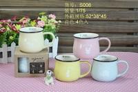 Vintage ceramic cup mug milk cup coffee cup cartoon multicolour zakka Large cup