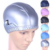 Spa swimming cap waterproof ear PU coating cap male female Large swimming cap
