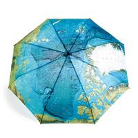 rainbow umbrella water sun umbrella Extreme Popularity Creative Three Folding Umbrella Free Shipping,oil painting umbrella