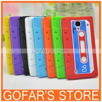 For Samsung galaxy S4 i9500 S IV Cassette Tape Soft Silicone Back skin Case Cover 2013 New Fashion Free Shipping