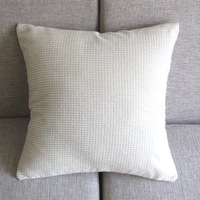 "Corduroy Corn kernels Pillow Case Sofe Decor Cushion Cover 43cm 17"" PT156 White"