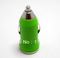 Free shipping New 10 PCS/Lot mini usb car charger adapter for iphone4 4s 5 ipad 1 2 mobile phone mp3 mp4  Mini free shipping