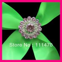 wholesale! 200pcs 22mm flat back Silver rhinestone brooch for Wedding Invitation, Rhinestone Embellishment