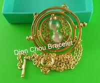 Free shipping Harry Potter Time-Turner 18k gold necklace Horcrux harry potter fans gifts HARRY POTTER  NECKLACE PK8987