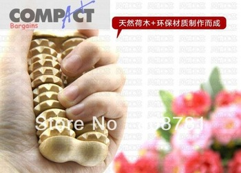 Free shipping Solid wood hand massager wheel acupuncture point massage stick hand care massager full-body