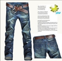 Free shipping! 2013 hot sales! Jeans  fashion cowboy pants men's denim trousers