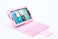 "Pink Bluetooth Silicone Keyboard Case For Samsung Galaxy Tab2 7"" Tablet P6200 P6210"