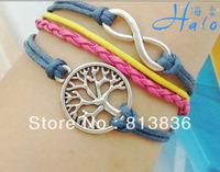 Free Ship B00-928 6PC/Lot Lift Tree Wish Bracelet for Fashion Costume Metal Charm Handmade Jewellery