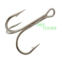 100 pcs silver color 1.25cm high carbon steel 3551 12# O'shaughnessy fishing treble hooks triple hooks