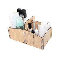 FreeShipping Diy acrylic cosmetic storage box Small wool drawer portable desktop storage box