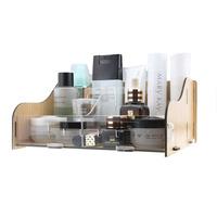 FreeShipping Acrylic cosmetics storage box adjustable desktop storage box wool storage drawer
