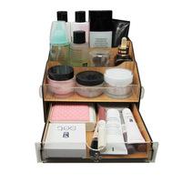 FreeShipping Acrylic wool cosmetics storage box single drawer desktop storage box Large