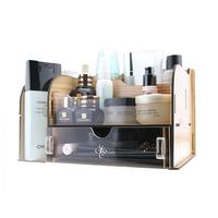 FreeShipping Acrylic wool cosmetics desktop storage box storage box storage drawer Large wool
