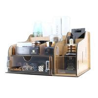 FreeShipping Desktop wool cosmetics acrylic storage box storage box Large wool storage drawer