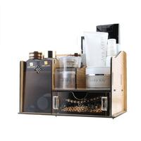 FreeShipping Acrylic cosmetics storage box wool storage drawer desktop storage box Large double layer