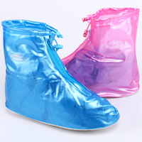 Double 5 rainproof shoes cover flat heel waterproof shoes cover waterproof thickening slip-resistant women's fashion shoes cover