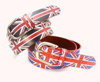 Drop Shipping 2014 Fashion Women Men Vintage Retro UK flag Doodle Punk Fashion Hiphop Male Ladies  Strap Belt