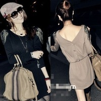 Free shipping 2013 new women's autumn long sleeve dress d281