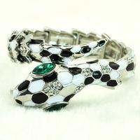 Fashion Classic Black And White Snake Stretch Bracelet