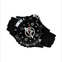 Free Shipping Marvel The Avengers Super Hero Logo Boy Man Metal Black Silicone Watch Wrist