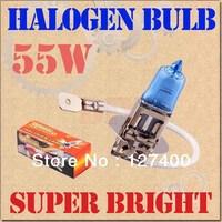 2pcs H3 Super Bright White Fog Halogen Bulb Hight Power 55W Car Headlight Lamp Free shipping