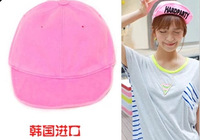 candy color 100% cotton hat roll-up hem baseball cap