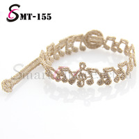 50pcs/lot  2013 NEW lace bracelet 100% Independently Design musical notes pattern italy lace bracelet