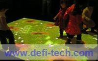 Free shipping 3D projection screen and lowest price interactive floor system,107 defferent interactive effects