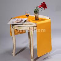 Free Shipping 106 x 11 inch Satin Table Runner Chair Sash Chair Tie - Deep Yellow