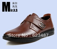 Free shipping 2013 New product on sale genuine leather men's shoes flats causal men's shoes Business fashion leather shoes