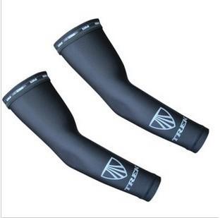 Free Shipping TREK Brand Bike Bicycle Cycling Riding Sports Arm UV Sunscreen Sleeve Armguard Cuff Arm Warmers- Black(China (Mainland))