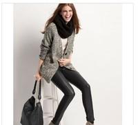 FS1792  Women patchwork PU pants fashion 7895