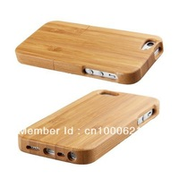 100% New Real Natural Bamboo Wood Wooden Hard Case Cover For iPhone 5 5G  free shipping