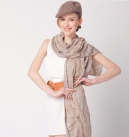 TOP Unique Simple Warmer  scarf sepcial design Knitting Scarf  5 Colors Ladies' Winter Scarves fashion shawl