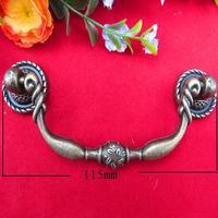Wholesale archaize bar shake handshandle furniture wardrobe door & drawer bronze handle