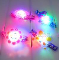 Night market flash light emitting hair accessory hand ring girls child novelty gift
